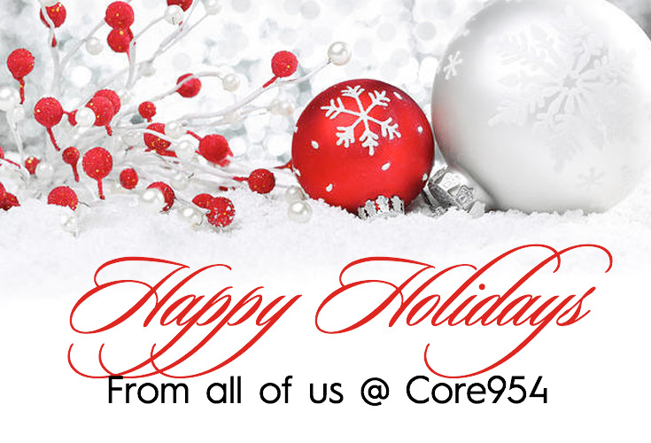 Happy Holidays from all of us at Core954